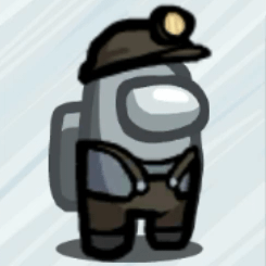 Miner Outfit Skin Among Us