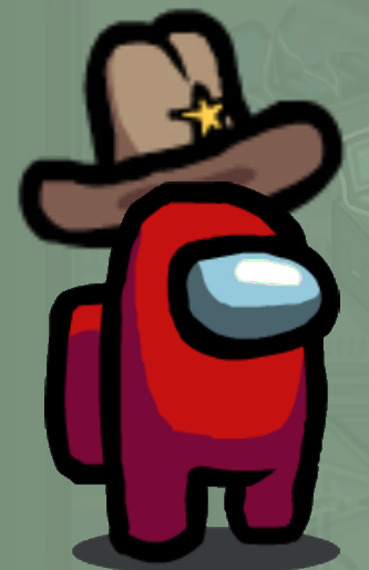 Ten Gallon Sheriff Hat Skin Among Us